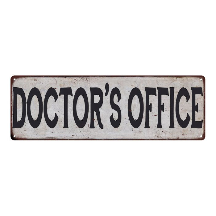 DOCTOR'S OFFICE Vintage Look Rustic 6x18 Metal Sign Chic Retro 106180035152