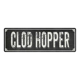 CLOD HOPPER Shabby Chic Black Chalkboard Metal Sign 6x18 Decor 106180050005