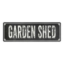 GARDEN SHED Shabby Chic Black Chalkboard Metal Sign 6x18 Decor 106180050009