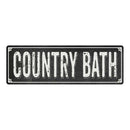 COUNTRY BATH Shabby Chic Black Chalkboard Metal Sign 6x18 Decor 106180050022