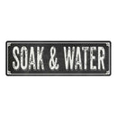 SOAK & WATER Shabby Chic Black Chalkboard Metal Sign 6x18 Decor 106180050037