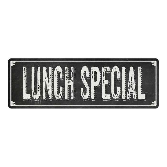 LUNCH SPECIAL Shabby Chic Black Chalkboard Metal Sign 6x18 Decor 106180050051