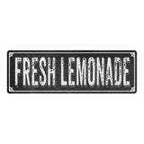 FRESH LEMONADE Shabby Chic Black Chalkboard Metal Sign 6x18 Decor 106180050062