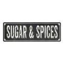 SUGAR & SPICES Shabby Chic Black Chalkboard Metal Sign 6x18 Decor 106180050065