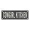 COWGIRL KITCHEN Shabby Chic Black Chalkboard Metal Sign 6x18 Decor 106180050066