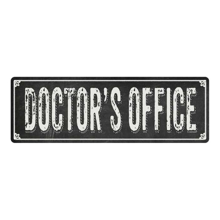 DOCTOR'S OFFICE Shabby Chic Black Chalkboard Metal Sign 6x18 Decor 106180050067