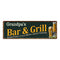 Grandpa's Bar and Grill Red Personalized Man Cave Decor 6x18 Sign 106180055003