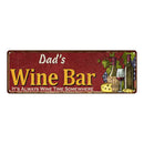 Dad's Wine Bar Red Personalized Home Kitchen Decor 6x18 Sign 106180056208