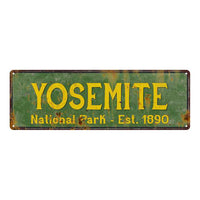 Yosemite National Park Rustic Metal 6x18 Sign Cabin Wall Decor 106180057015