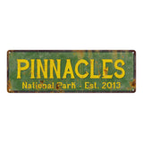 Pinnacles National Park Rustic Metal 6x18 Sign Cabin Wall Decor 106180057017