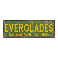 Everglades National Park Rustic Metal 6x18 Sign Cabin Wall Decor 106180057020