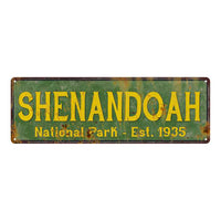 Shenandoah National Park Rustic Metal 6x18 Sign Cabin Wall Decor 106180057023