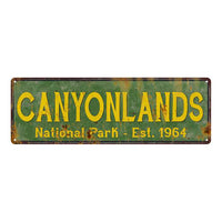Canyonlands National Park Rustic Metal 6x18 Sign Cabin Wall Decor 106180057024