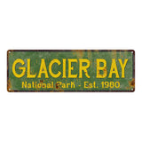 Glacier Bay National Park Rustic Metal 6x18 Sign Cabin Wall Decor 106180057026
