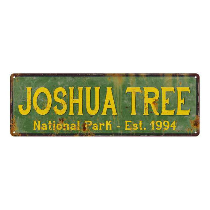 Joshua Tree National Park Rustic Metal 6x18 Sign Cabin Wall Decor 106180057031