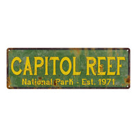 Capitol Reef National Park Rustic Metal 6x18 Sign Cabin Wall Decor 106180057034