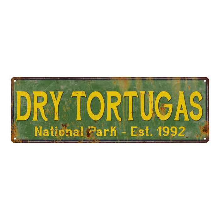 Dry Tortugas National Park Rustic Metal 6x18 Sign Cabin Wall Decor 106180057036