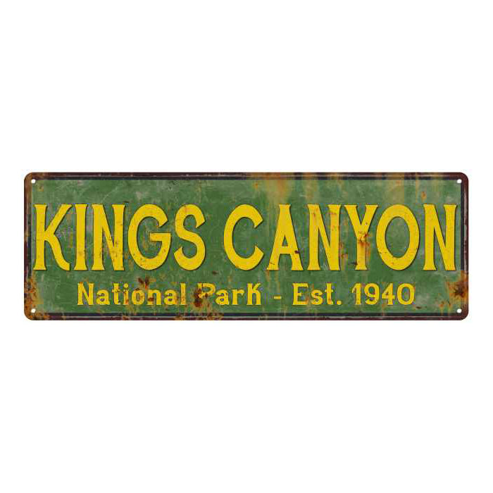 Kings Canyon National Park Rustic Metal 6x18 Sign Cabin Wall Decor 106180057039