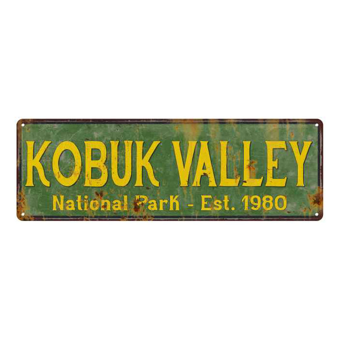 Kobuk Valley National Park Rustic Metal 6x18 Sign Cabin Wall Decor 106180057040