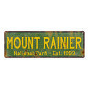 Mount Rainier National Park Rustic Metal 6x18 Sign Cabin Wall Decor 106180057042