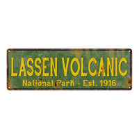 Lassen Volcanic National Park Rustic Metal 6x18 Sign Cabin Decor 106180057049