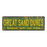 Great Sand Dunes National Park Rustic Metal 6x18 Sign Cabin Decor 106180057051
