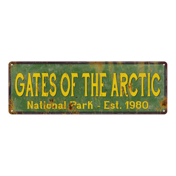 Gates Of The Arctic National Park Rustic Metal 6x18 Sign Decor 106180057056