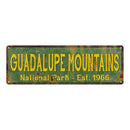 Guadalupe Mountains National Park Rustic Metal 6x18 Sign Decor 106180057057