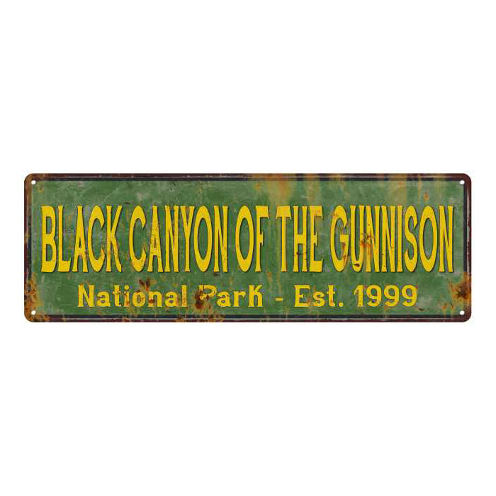 Black Canyon Of The Gunnison National Park Rustic Metal 6x18 Sign 106180057059