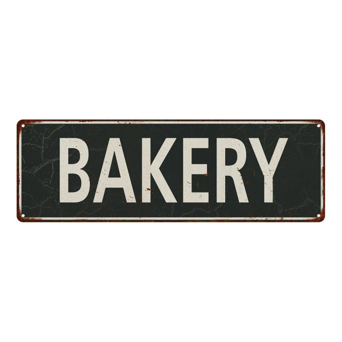 Bakery Vintage Look Shabby Chic Gift Metal Sign 6x18 106180062016