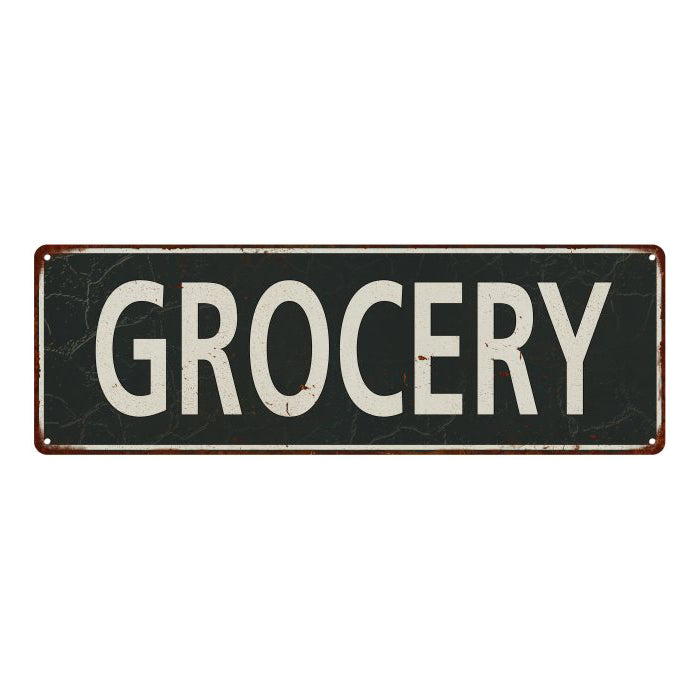 Grocery Vintage Look Shabby Chic Gift Metal Sign 6x18 106180062019