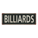 Billiards Vintage Look Shabby Chic Gift Metal Sign 6x18 106180062026