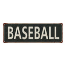 Baseball Vintage Look Shabby Chic Gift Metal Sign 6x18 106180062030