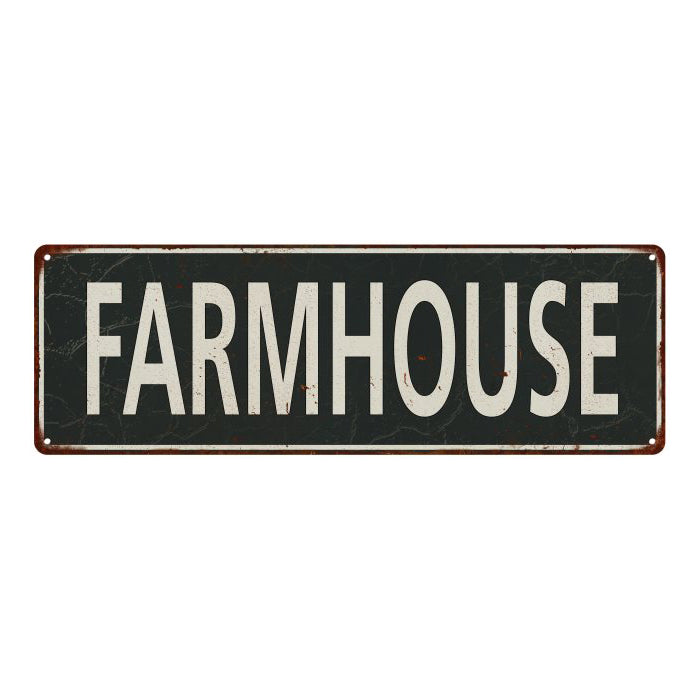 Farmhouse Vintage Look Shabby Chic Gift Metal Sign 6x18 106180062040