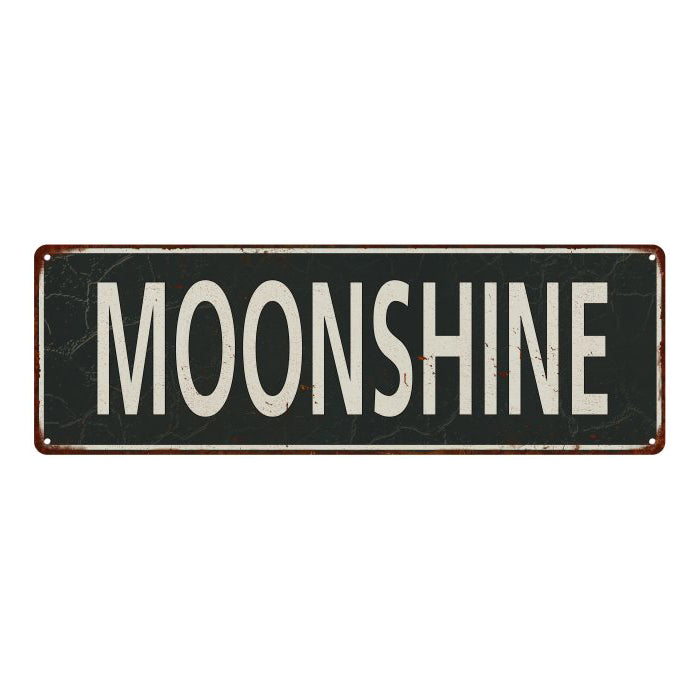 Moonshine Vintage Look Shabby Chic Gift Metal Sign 6x18 106180062048