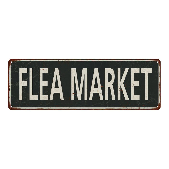 Flea Market Vintage Look Shabby Chic Gift Metal Sign 6x18 106180062054
