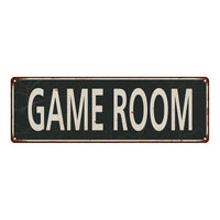 Game Room Vintage Look Shabby Chic Gift Metal Sign 6x18 106180062055