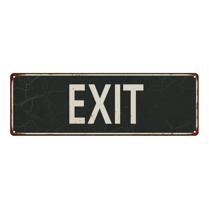 EXIT Vintage Look Shabby Chic Gift Metal Sign 6x18 106180062060