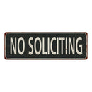 No Soliciting Vintage Look Shabby Chic Gift Metal Sign 6x18 106180062064