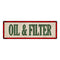 OIL & FILTER Vintage Looking Metal Sign Shop Oil Gas 6x18 Garage 106180064023