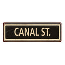 Canal St. Vintage Looking Metal Sign Home Decor 6x18 106180066008