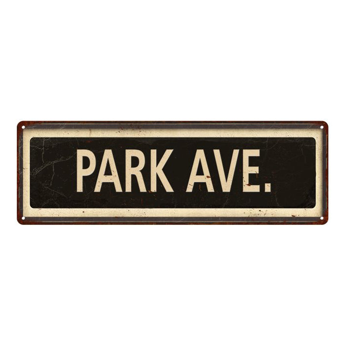 Park Ave. Vintage Looking Metal Sign Home Decor 6x18 106180066009