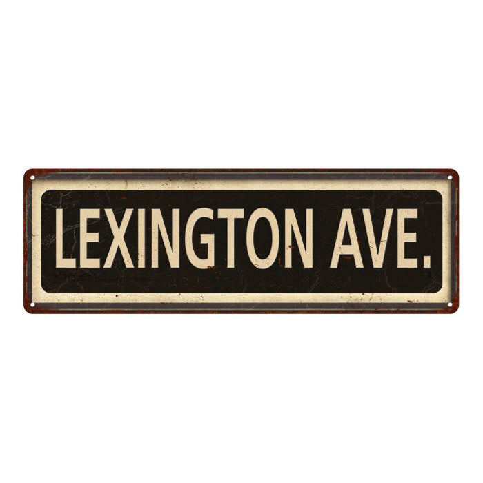 Lexington Ave. Vintage Looking Metal Sign Home Decor 6x18 106180066010