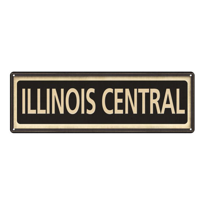 Illinois Central Vintage Looking Metal Sign Home Decor 6x18 106180066025