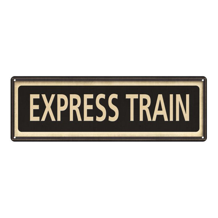 Express Train Vintage Looking Metal Sign Home Decor 6x18 106180066030