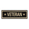 Veteran Vintage Looking Metal Sign Home Decor 6x18 106180066035