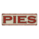 PIES Restaurant Diner Food Vintage Look Metal Sign 6x18 106180068003