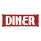 Diner Restaurant Diner Food Menu Vintage Look Metal Sign 6x18 106180069004