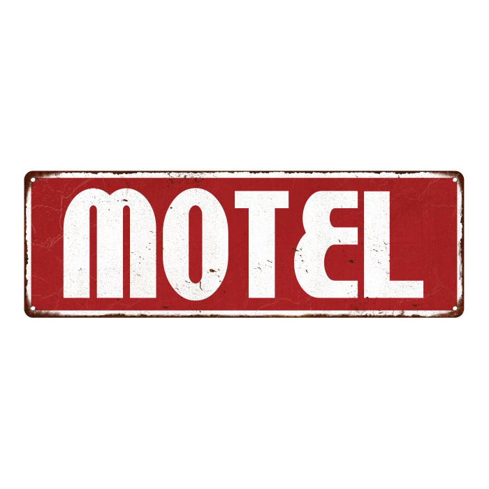 Motel Restaurant Diner Food Menu Vintage Look Metal Sign 6x18 106180069005