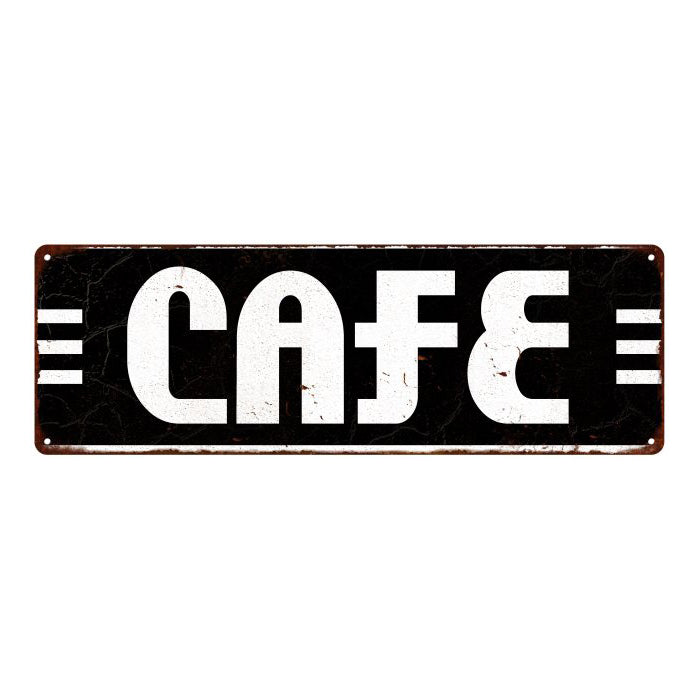 Café Restaurant Diner Food Vintage Look Metal Sign 6x18 106180069009